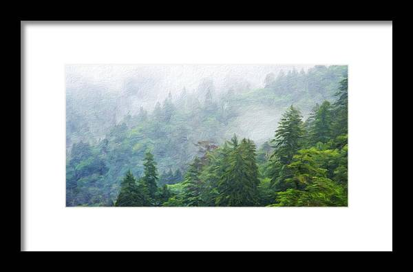 Landscape Framed Print featuring the painting Nature Scenery Oil Paintings On Canvas by World Map
