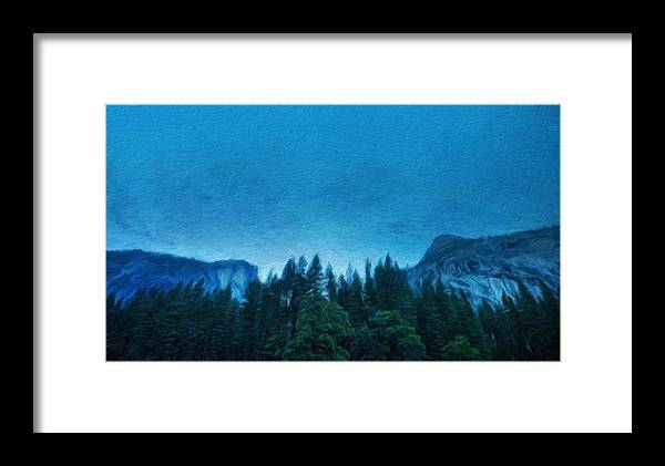 Landscape Framed Print featuring the painting Nature Landscape Oil Painting On Canvas by World Map