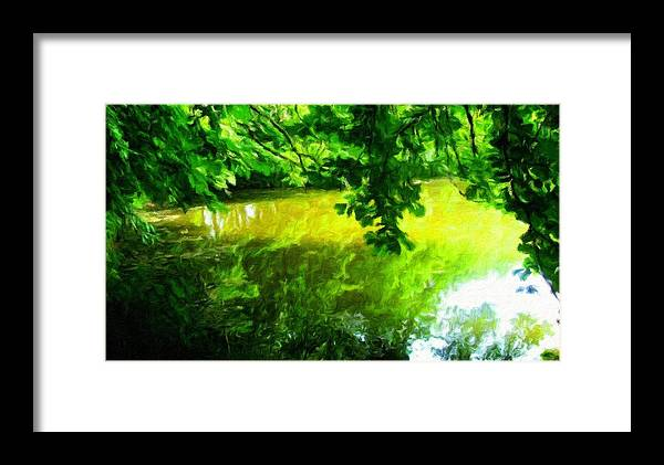 Landscape Framed Print featuring the painting Oil Paintings Art Landscape Nature by World Map
