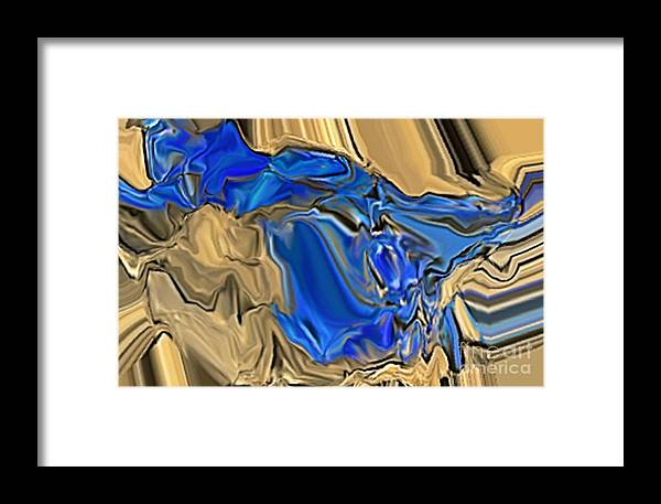 Abstract Framed Print featuring the digital art 1297exp6 by Ron Bissett