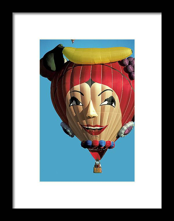 Carmen Miranda Framed Print featuring the photograph Carmen Miranda Balloon In Albuquerque by Carl Purcell