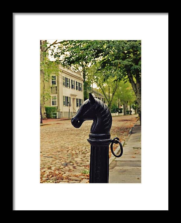 Nantucket Framed Print featuring the photograph Nantucket Hitching Post by JAMART Photography