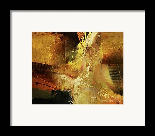 Abstract Framed Print featuring the painting Untitled by Angelina Cornidez