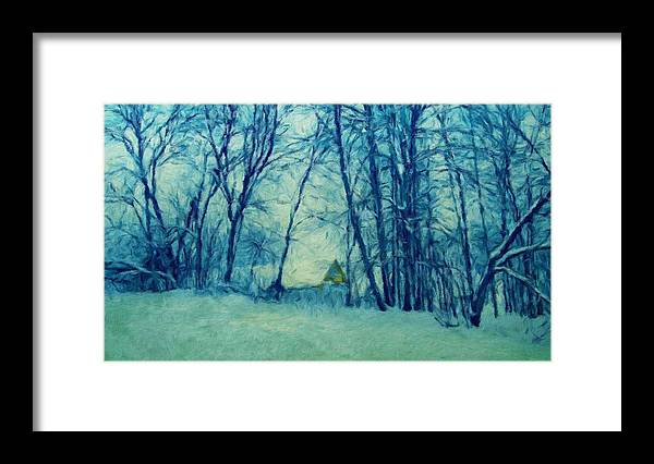 Landscape Framed Print featuring the painting Nature Landscape Light by World Map