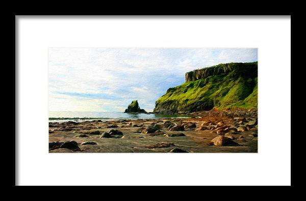Landscape Framed Print featuring the painting Landscape Nature Art by World Map