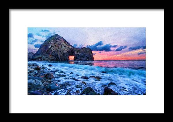 Landscape Framed Print featuring the painting Nature Landscape Wall Art by World Map