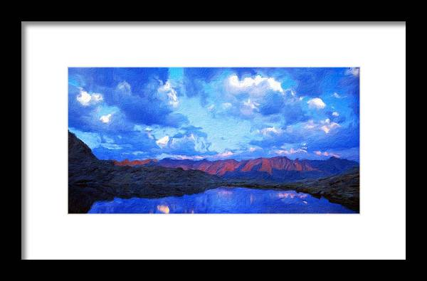 Landscape Framed Print featuring the painting Nature Work Landscape by World Map