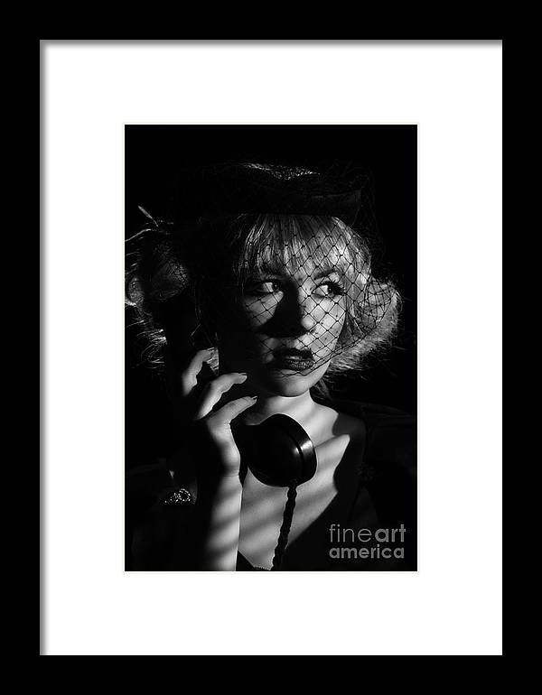 Hollywood Framed Print featuring the photograph Film Noir by Amanda Elwell
