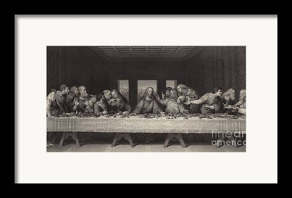 The Last Supper Framed Print featuring the painting The Last Supper by Leonardo da Vinci