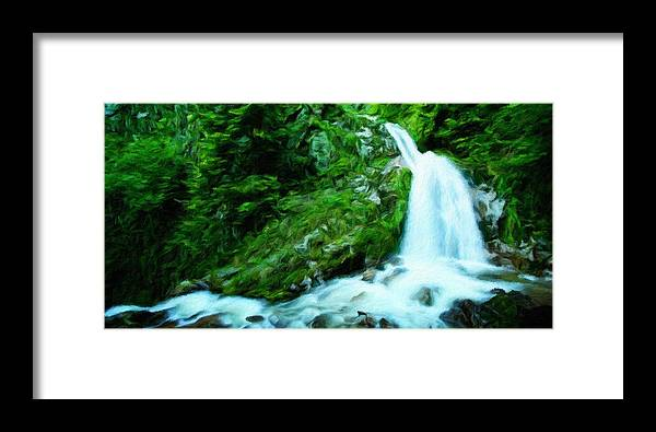 Landscape Framed Print featuring the painting Art Landscape Nature by World Map