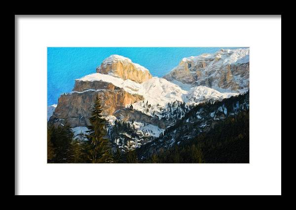 Landscape Framed Print featuring the painting Nature Landscape Illumination by World Map