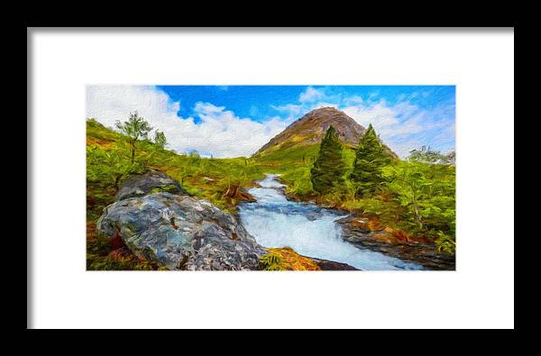Landscape Framed Print featuring the painting Nature Painted Landscape by World Map