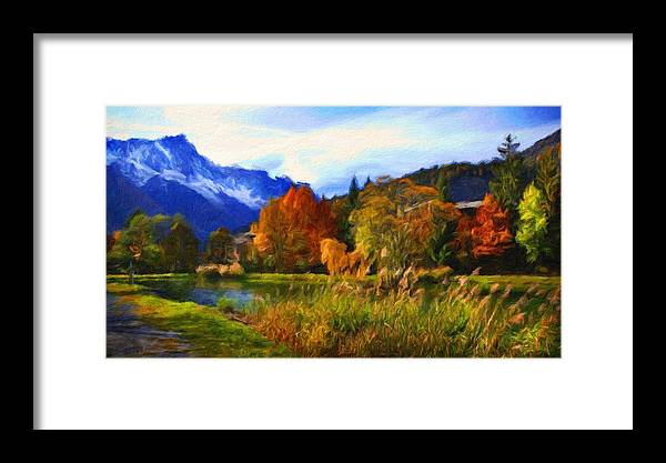 Landscape Framed Print featuring the painting Nature Landscape Paintings by World Map