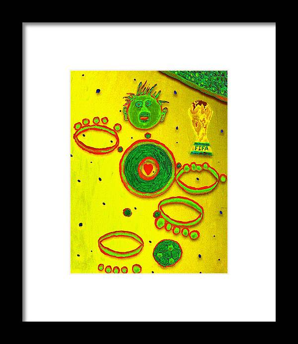 Framed Print featuring the mixed media Abstract by Jason Gauvreau
