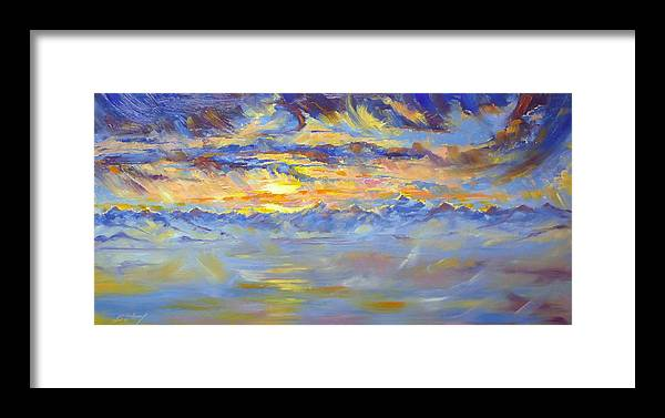 Earth Light Framed Print featuring the painting Earth Light Series by Len Sodenkamp