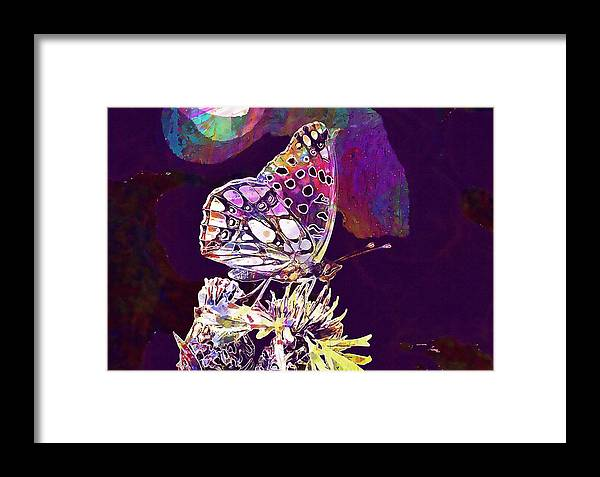 Insect Framed Print featuring the digital art Insect Nature Live by PixBreak Art