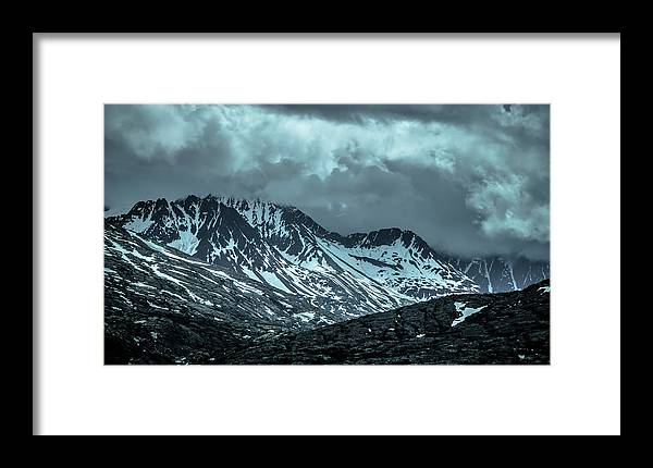 Tranquil Scene Framed Print featuring the photograph Rocky Mountains Nature Scenes On Alaska British Columbia Border by Alex Grichenko