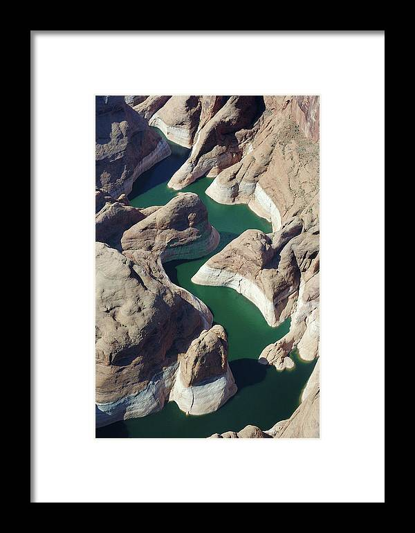 Erosion Framed Print featuring the photograph Tributary To Lake Powell by Carl Purcell