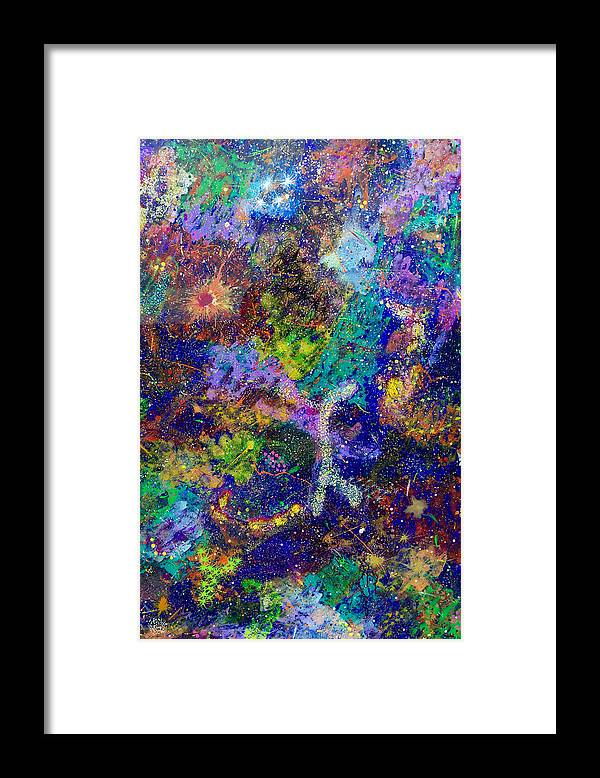Abstract Framed Print featuring the painting 16-6 Lambda Sky by Patrick OLeary