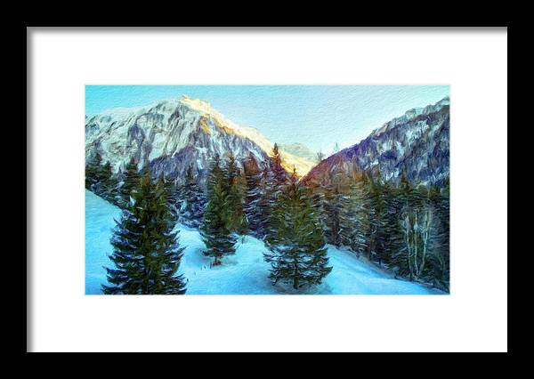 Landscape Framed Print featuring the painting Nature Oil Paintings Landscapes by World Map
