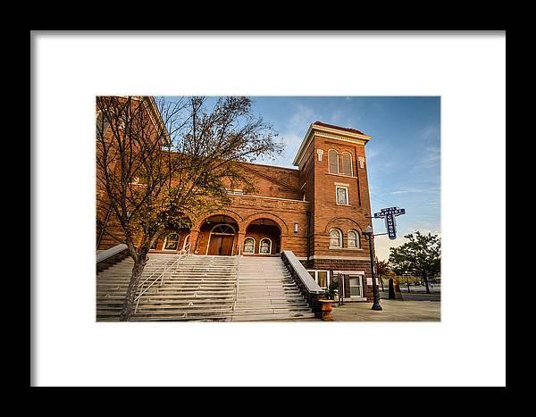 Birmingham Framed Print featuring the photograph 16th Street Baptist Church Steps In Birmingham Alabama by Michael Thomas