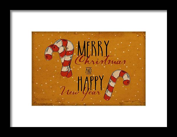 Decoration; Ornate; Abstract; Design; Illustration; Art; Creative; Decor; Vector; Grunge; Vintage; Watercolor Painting; Print; Poster; Christmas; Holiday; Snow; Travel Framed Print featuring the digital art Christmas Greetings by Don Kuing