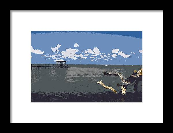 Lagoon Framed Print featuring the painting Indian River Lagoon by Allan Hughes