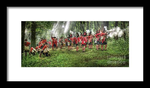Uniform Framed Print featuring the digital art 1763 Battle Of Bushy Run Pennsylvania by Randy Steele