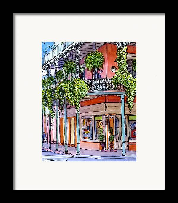 New Orleans Framed Print featuring the painting 18 French Quarter Art Gallery by John Boles