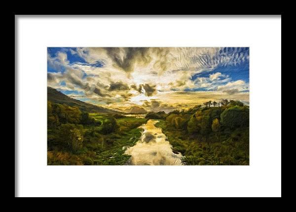 New Framed Print featuring the digital art Landscape Color by Malinda Spaulding