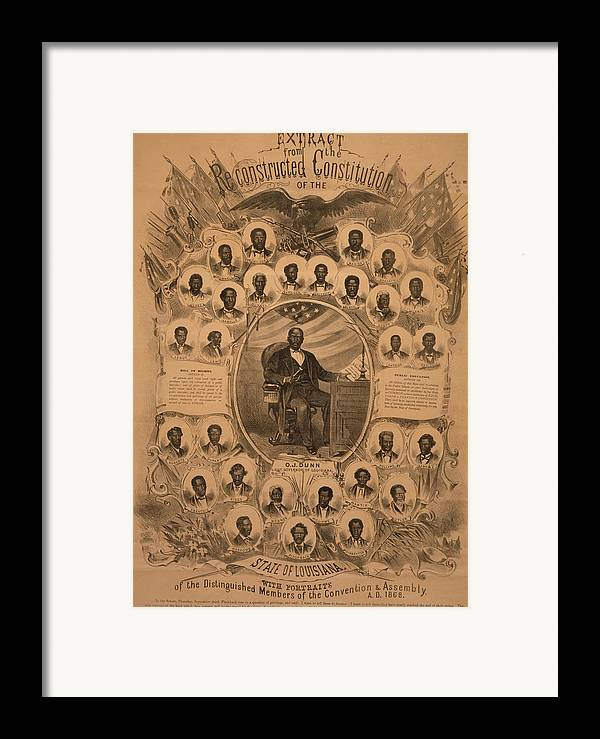 History Framed Print featuring the photograph 1868 Commemorative Photo Collage by Everett