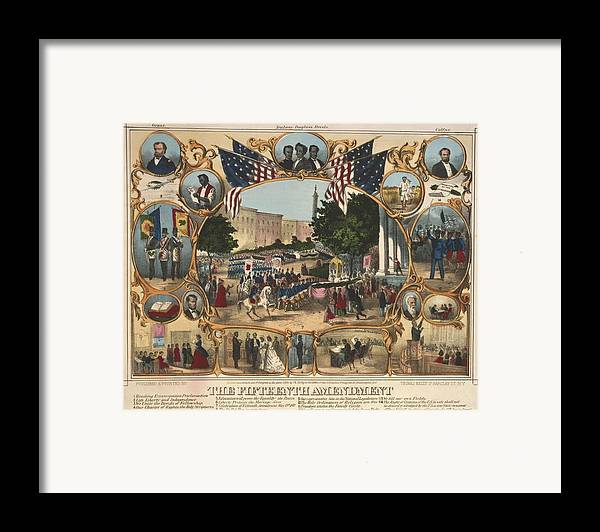 History Framed Print featuring the photograph 1870 Print Illustrating The Rights by Everett