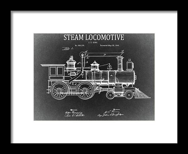 1894 steam locomotive blueprint framed print by dan sproul 1894 steam locomotive patent framed print featuring the drawing 1894 steam locomotive blueprint by dan sproul malvernweather Gallery