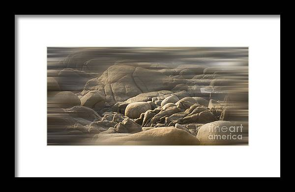 Rocks Framed Print featuring the photograph Msc by Caddelle Faulkner