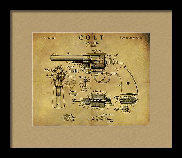 1903 Colt Revolver Patent by Dan Sproul
