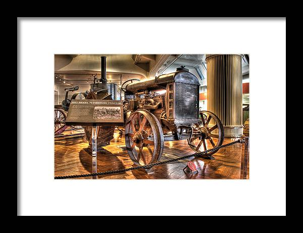 Framed Print featuring the photograph 1917 Model 1 Fordson Tractor Dearborn MI by Nicholas Grunas