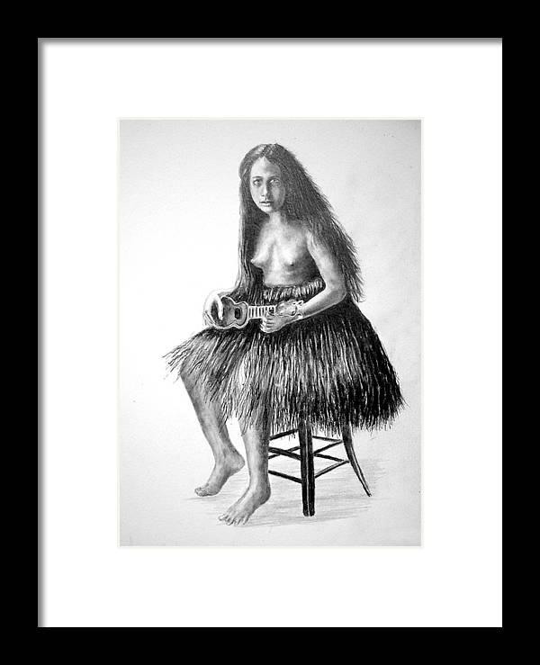 Hawaiian Girl Framed Print featuring the painting 1919 Hawaiian Girl by Paul Sandilands