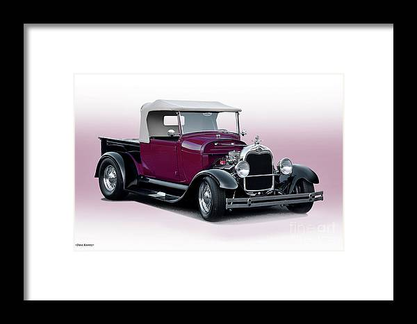 Auto Framed Print featuring the photograph 1928 Ford Roadster Pickup I by Dave Koontz
