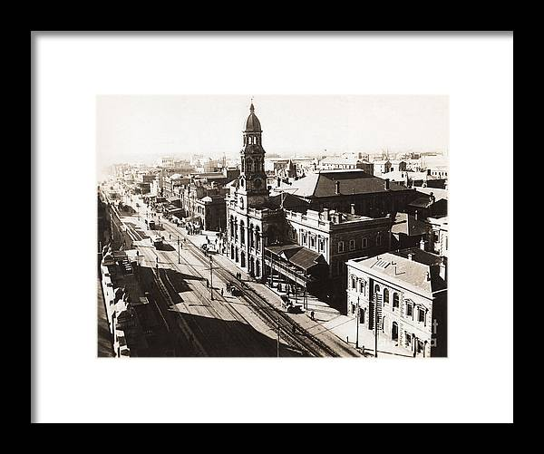 1928 Vintage Adelaide City Landscape Framed Print By Jorgo Photography Wall Art Gallery