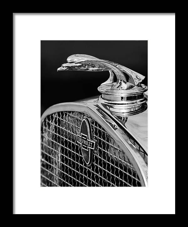 1931 Chevrolet Framed Print featuring the photograph 1931 Chevrolet Hood Ornament 4 by Jill Reger