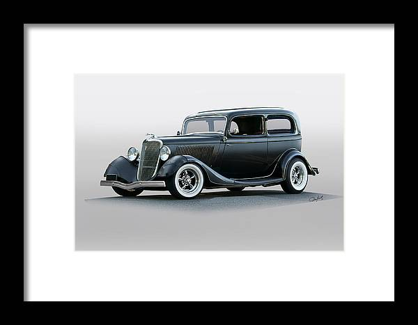 Auto Framed Print featuring the photograph 1934 Ford 'victoria' Coupe by Dave Koontz