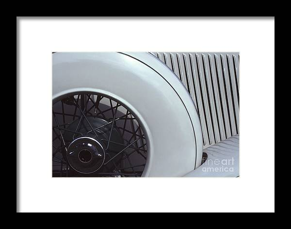 Auburn Framed Print featuring the photograph 1937 Auburn Salon Cabriolet Side View by Anna Lisa Yoder