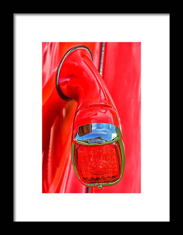 1937 Framed Print featuring the photograph 1937 Chevy Coupe Tail Light by Mike Martin