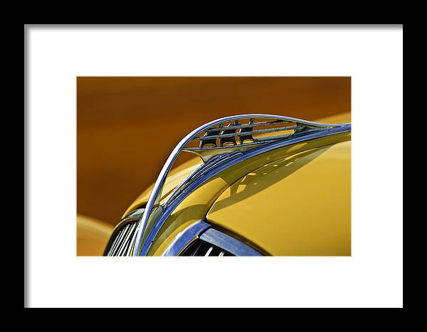1937 Plymouth Framed Print featuring the photograph 1937 Plymouth Hood Ornament by Jill Reger