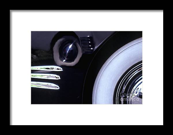 1338 Framed Print featuring the photograph 1938 Cadillac Limo Wheel Well Reflections by Anna Lisa Yoder