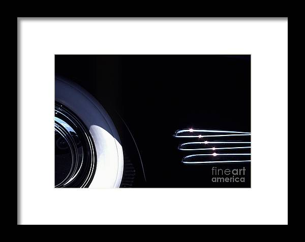 1338 Framed Print featuring the photograph 1938 Cadillac Limo With Chrome Strips by Anna Lisa Yoder