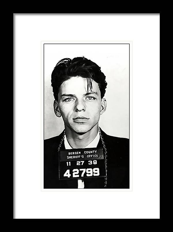 1938 Young Frank Sinatra Mugshot Framed Print by Daniel Hagerman