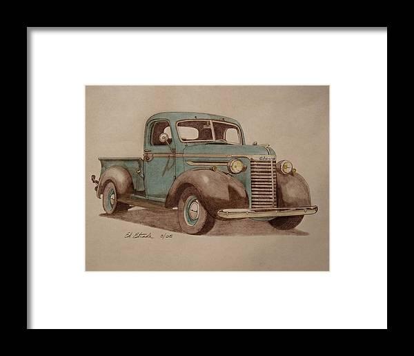 1940 Chevrolet Pickup Truck Framed Print