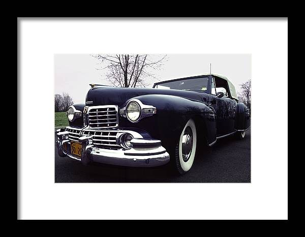 Lincoln Framed Print featuring the photograph 1947 Classic Lincoln Ragtop On Moody Day by Anna Lisa Yoder