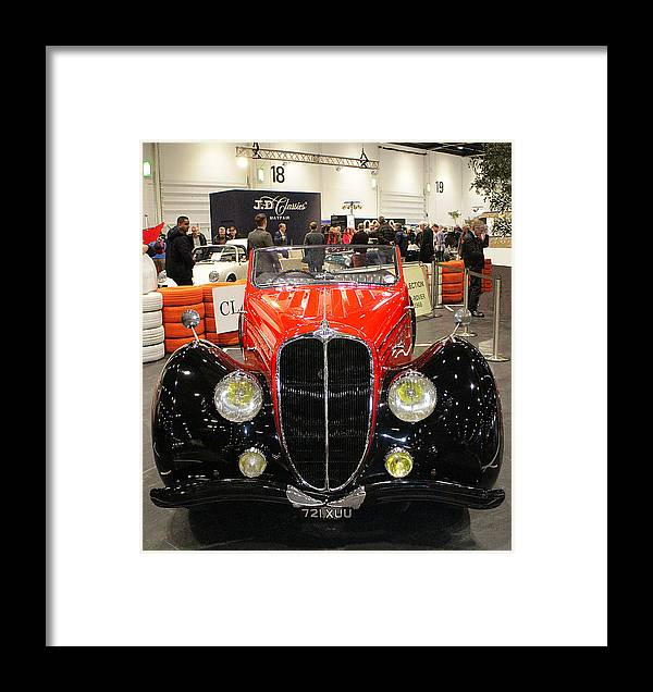 1947 Framed Print featuring the photograph 1947 Delahaye 135m Letourner Et Marchand Cabriolet by Peter Lloyd